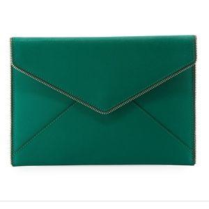 NEW Rebecca Minkoff Leo Saffiano Leather Clutch
